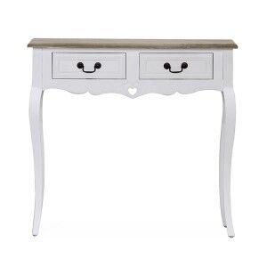 Vida Living Maeve White Painted Furniture 2 Drawer Console Table