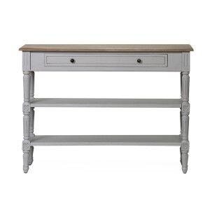 Vida Living Rowan Antique Grey 1 Drawer Console Table