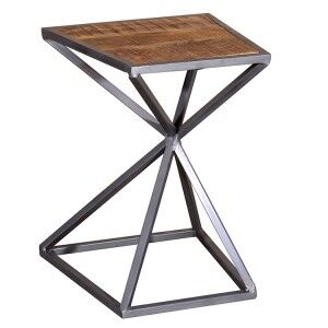 Vida Living Tiznit Acacia & Metal Drinks Table