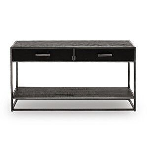 Vida Living Vanya Industrial Console Table Dark Brown