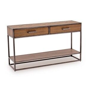 Vida Living Vanya Industrial Console Table Light Brown