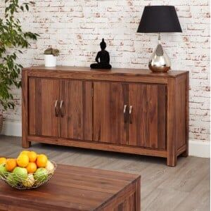 Mayan Walnut Furniture Large Low Sideboard
