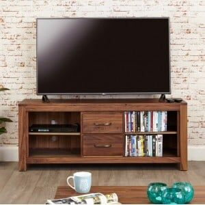Mayan Walnut Furniture Widescreen Television Cabinet
