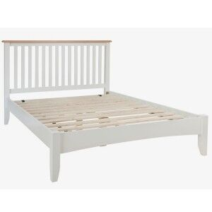 Galaxy White Painted Furniture 4ft6 Low End Double Bed