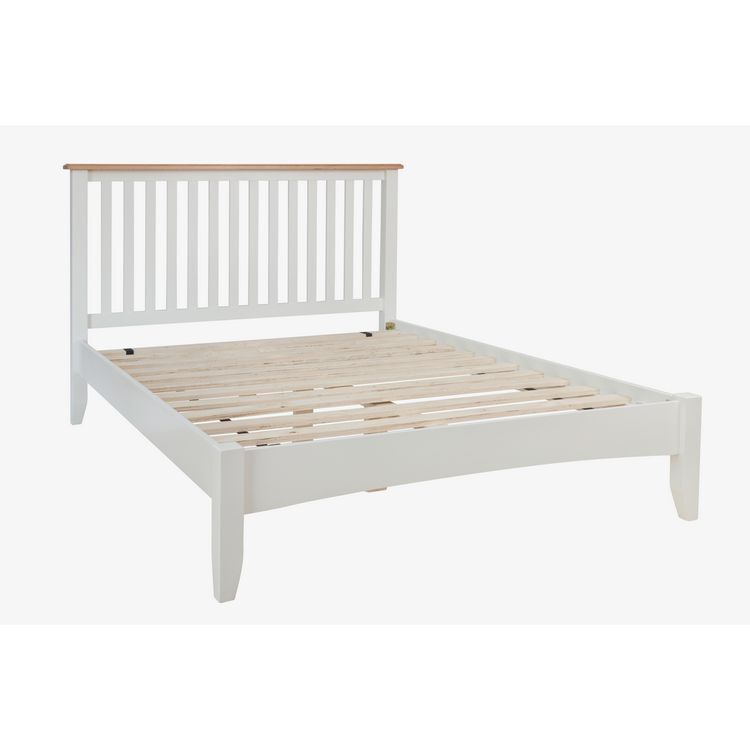 Galaxy White Painted Furniture 5ft Low End King Size Bed
