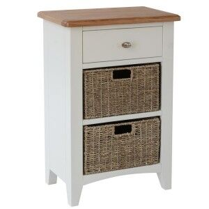 Galaxy White Painted Furniture 3 Drawer Storage Unit