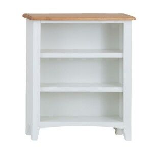 Galaxy White Painted Furniture Small Wide Bookcase