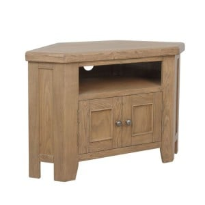 Heritage Smoked Oak Furniture Corner TV Unit