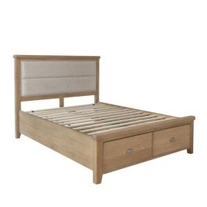 Heritage Smoked Oak Furniture 5ft King Size Bed Frame