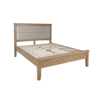 Heritage Smoked Oak Furniture 5ft King Size Low Footend Bed