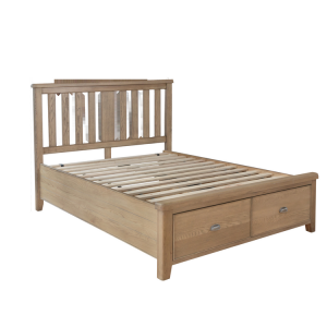 Heritage Smoked Oak Furniture 4ft6 Double Bed with Drawers