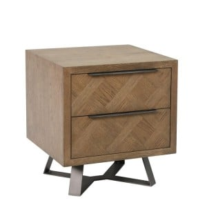 Imperial Aged Oak Furniture 2 Drawer Bedside Cabinet