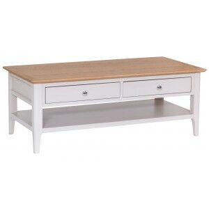 Clearance Manor House Stone Grey Painted Large Coffee Table