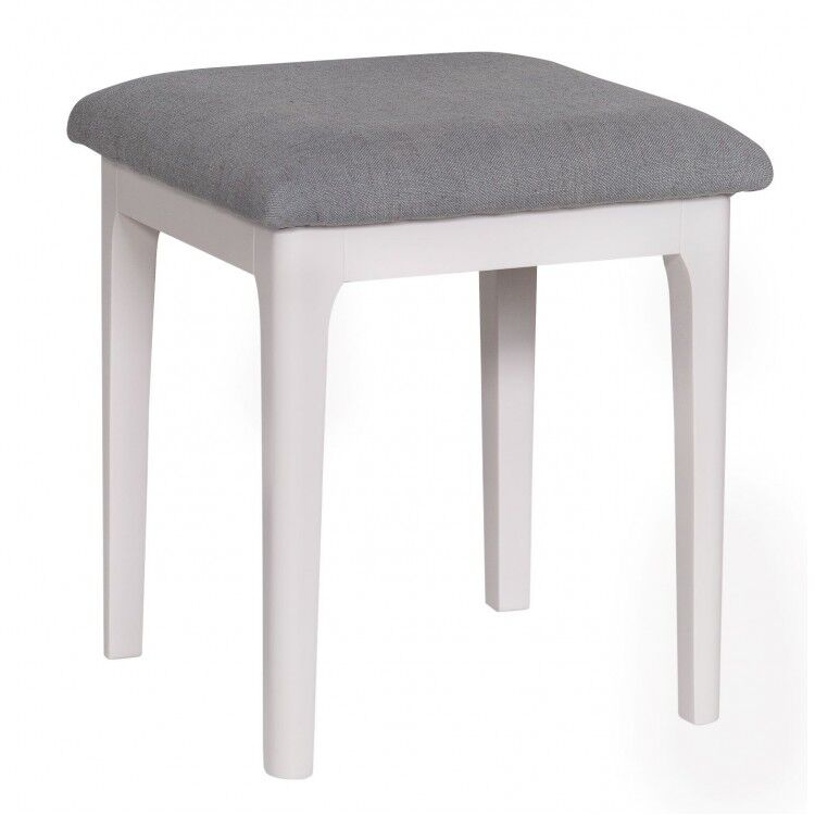 Manor House Stone Grey Painted Furniture Dressing Table Stool