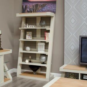 Z Solid Oak Grey Painted Furniture Large Bookcase