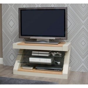 Z Solid Oak Grey Painted Furniture TV Unit