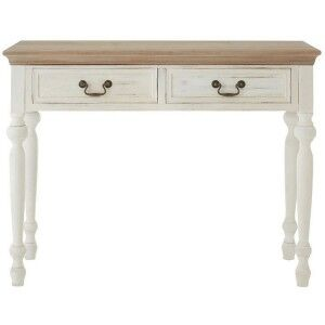 Hendra Weathered White Furniture 2 Drawer Console Table