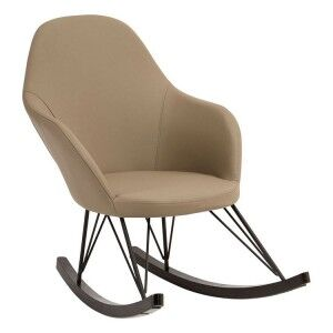 Kolding Light Grey Faux Leather and Metal Chair