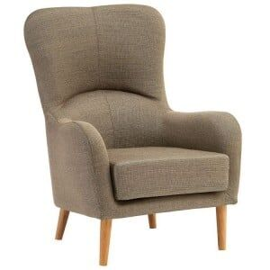 Kolding Mink Fabric and Natural Ash Wood Chair