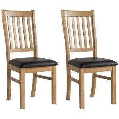 Burford Oak Furniture Dining Chair Pair