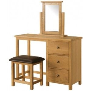 Burford Oak Furniture Dressing Table Set