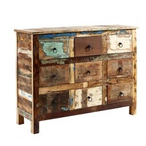 Coastal Reclaimed Wood Furniture 9 Drawer Chest