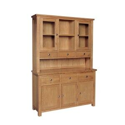 Dorset Oak Furniture Large Dresser Display Cabinet