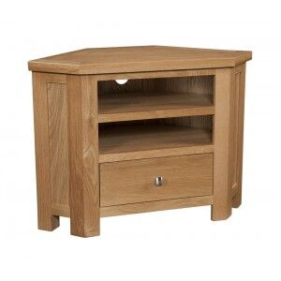 Devonshire Dorset Oak Furniture Corner TV Unit