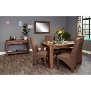 Mayan Walnut Furniture 6 Seater Dining Table 150cm