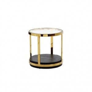Besp-Oak Contemporary Sofas Dietrich Glass Top End Table
