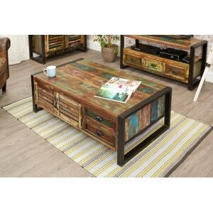 New Urban Chic Furniture 4 Door 4 Drawer Large Coffee Table