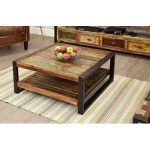 New Urban Chic Furniture Square Coffee Table