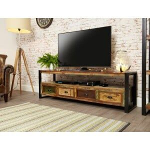 New Urban Chic Furniture Open Widescreen Television Cabinet