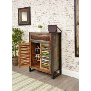 New Urban Chic Furniture Shoe Storage Cupboard with Drawers