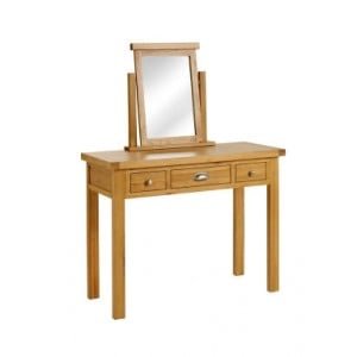 Birlea Woburn Oak Furniture 3 Drawer Dressing Table