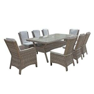 Signature Weave Garden Furniture Alexandra Rectangular 8 Seat Dining Set