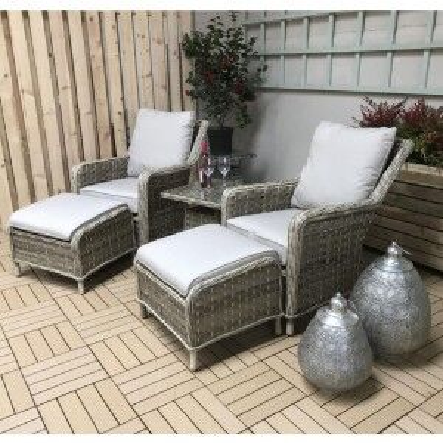 Signature Weave Garden Furniture Mia Caramel High Back Armchair Lounge Set