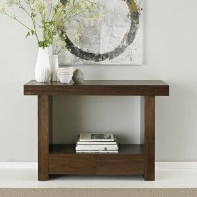 Bentley Designs Akita Walnut Furniture Console Table