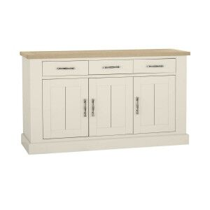 Bentley Designs Chartreuse White 3 Door Sideboard