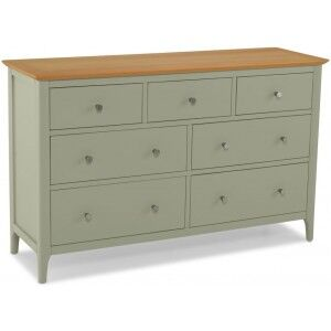 Berlin Painted Oak Furniture 7 Drawer Chest