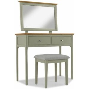 Berlin Painted Oak Furniture Dressing Table Set