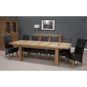 Bordeaux Solid Oak Furniture 12 Seater Grand Dining Table
