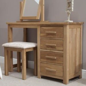 Opus Oak Furniture Dressing Table and Stool - Ex-Display - Unboxed