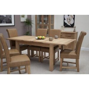 Opus Solid Oak Furniture Extending Dining Room Table