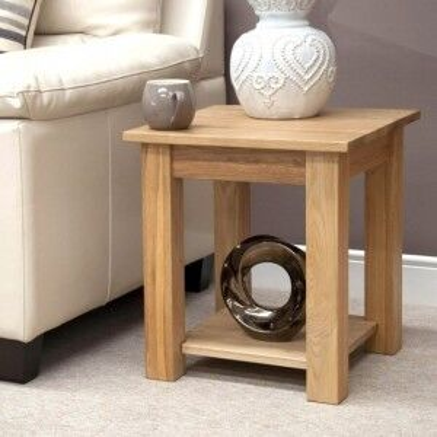 Opus Solid Oak Furniture Lamp Table