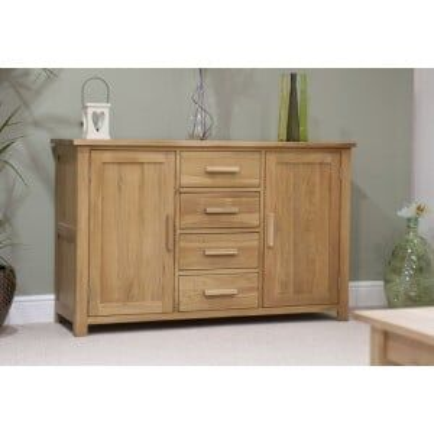 Opus Solid Oak Furniture Large Sideboard