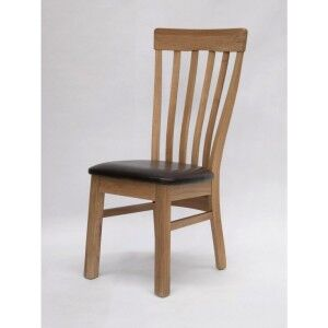 Homestyle Opus Oak Furniture Lucia Dining Table Chair (Pair)